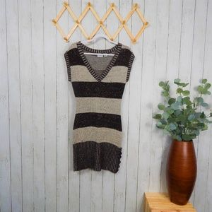 Chesley Brown and Tan Sweater Dress